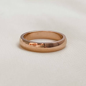 Rose Gold Classic Medium Width Band Ring